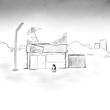 「ペンギン店長 グレゴリーの業務報告」一章挿絵