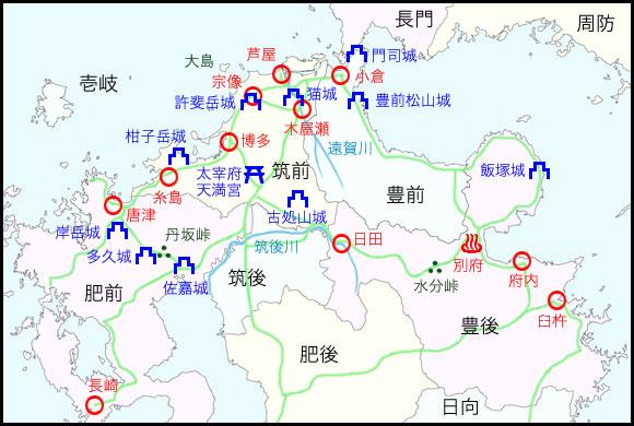 北部九州図