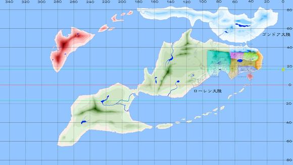 マギクラフト・マイスター世界地図