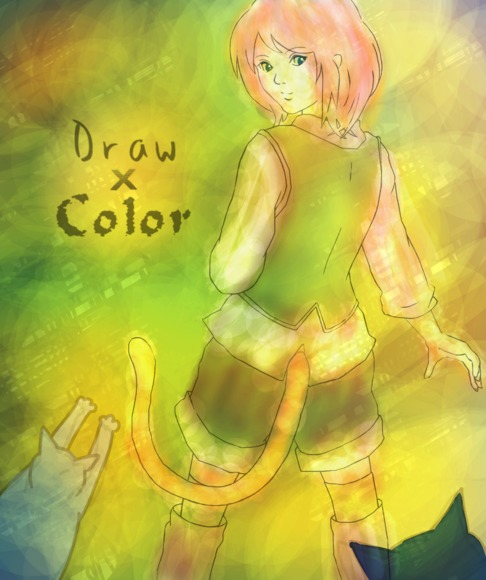 【線画×彩色】品さんの線画に色塗り!
