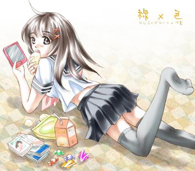 【線×色】セーラー(線画:なんごくピヨーコさま)