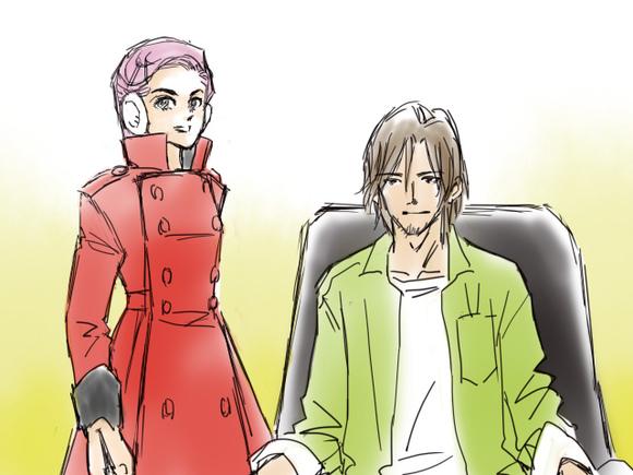 板額さんと典太さん。