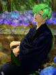 須川と紫陽花