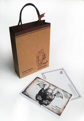 ロボと少女の紙袋と真っ黒ハート