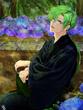 須川と紫陽花(加工終了ver)