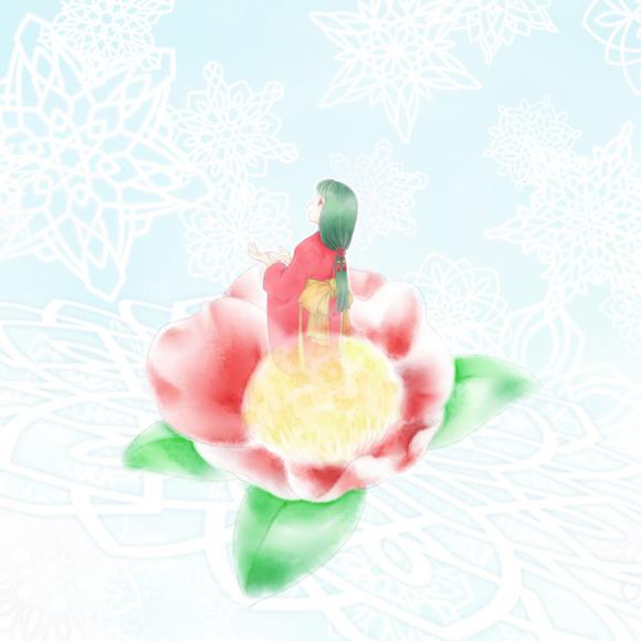 【お題DEイラスト企画】雪に椿