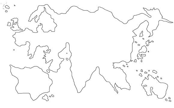 新・ドラゴン転生 龍帝誕生記世界地図