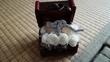ワークショップで作った白薔薇と小鳥の宝箱