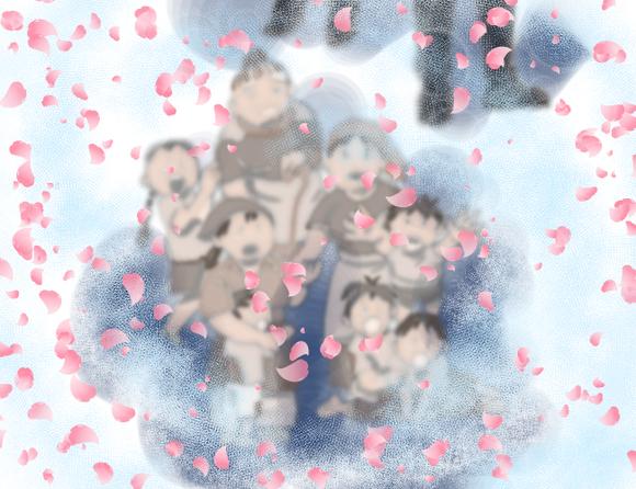 サヨナラの花吹雪