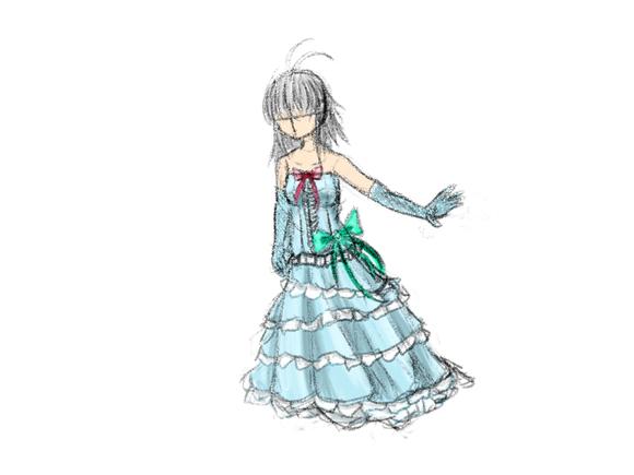 落書き_ドレスのデザイン