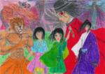 『狂え虹色☆舞踏会!』挿絵です