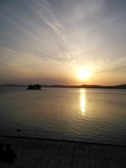宍道湖の夕陽1