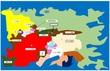 リアン大陸西方地図