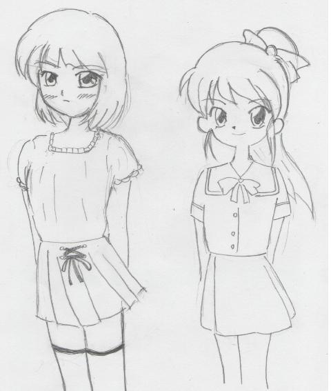 ナナちゃんと可純ちゃん