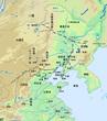 東北三省(旧満州)地形地図(改)