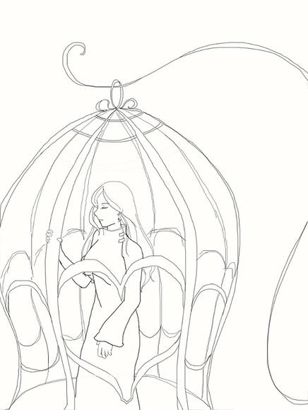 鳥籠のケイさん(線)