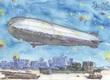 巨大飛行船シルフィー