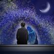 静かな夜に月を見上げて