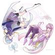 【魔法でポン】エイチェル&セリアル(環状図)