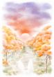 [お題]秋の落葉樹並木
