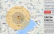東京 PLA第二砲兵 核攻撃被害MAP エアバーストモード 五メ