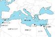 北アフリカ地中海地図