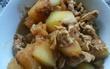 冬瓜、豚肉、減塩醤油、お酢、炒め煮