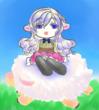 羊に乗った羊のメイちゃん