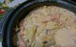 サケのあら で、豆乳鍋