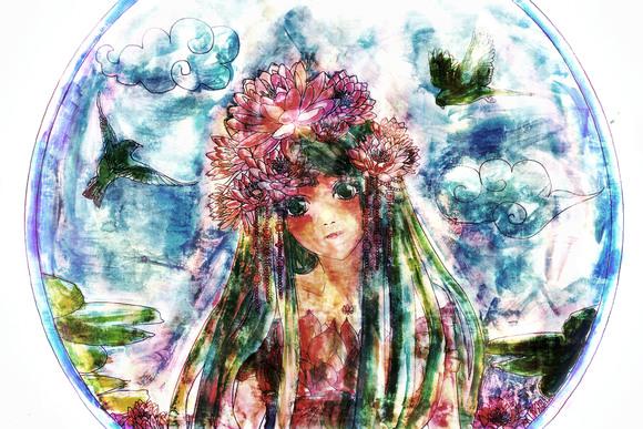 【線×色】水居さんの線画~!