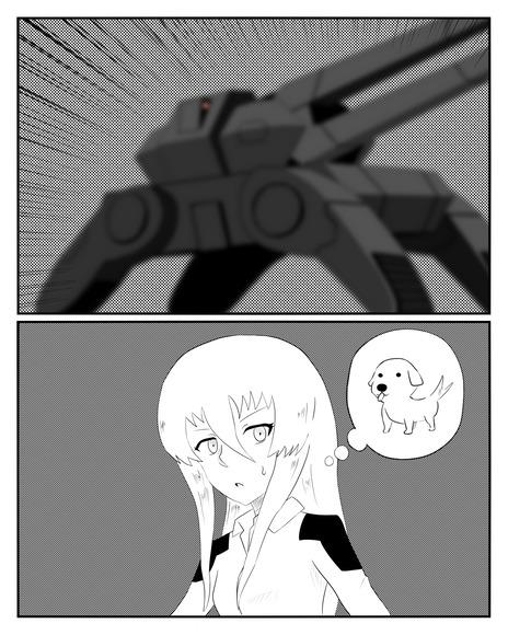 挿絵用 電磁砲戦車とイルマちゃん