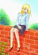 【線×色Ⅱ】ミノマさまの「ご機嫌な彼女」を塗らせて頂きました。