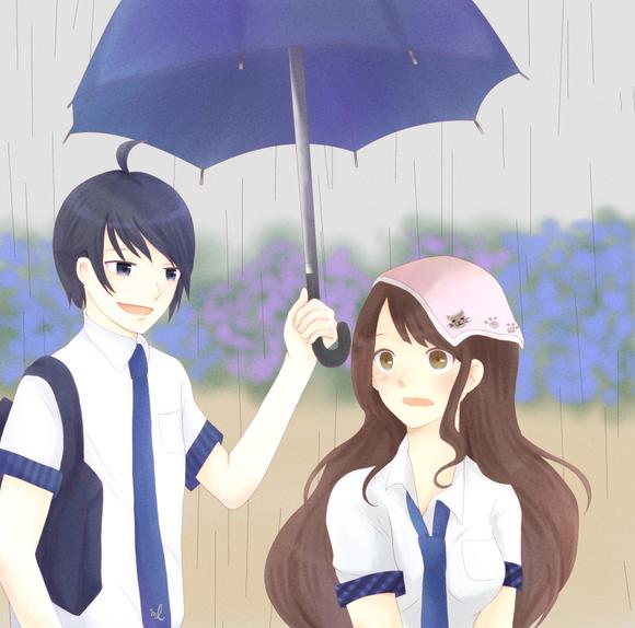 雨模様の帰り道
