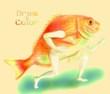 【線×色】こぎつね様線画『エアギターする魚類』