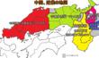 東西決戦後の中国、近畿の勢力図