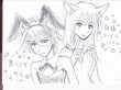 「黒ウサギ」カイと「白猫」アーデルハイト