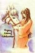 【線×色】馬と娘(品さま線画)