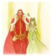 はぐるまどらいぶ。王と王妃。