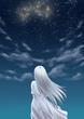 星空を見上げる少女