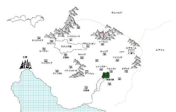 ファルジア王国地図