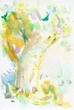 童話『若いニンフと年老いたくすのき』の挿絵