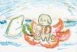 童話「パパ、おはなしして!」の挿絵(冬の童話祭参加作品)