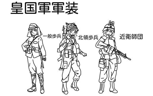 皇国軍装備一覧