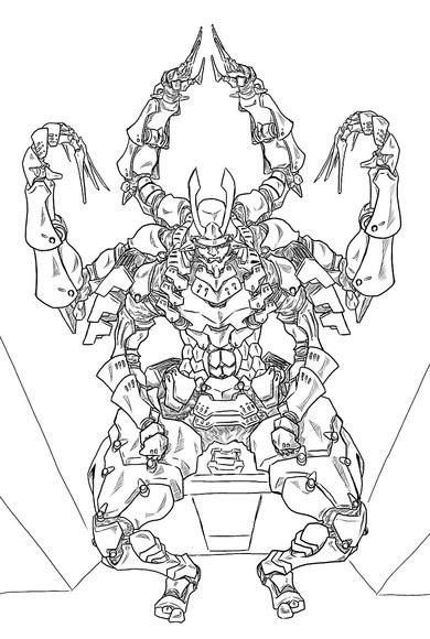 幻晶騎士イカルガ 線画