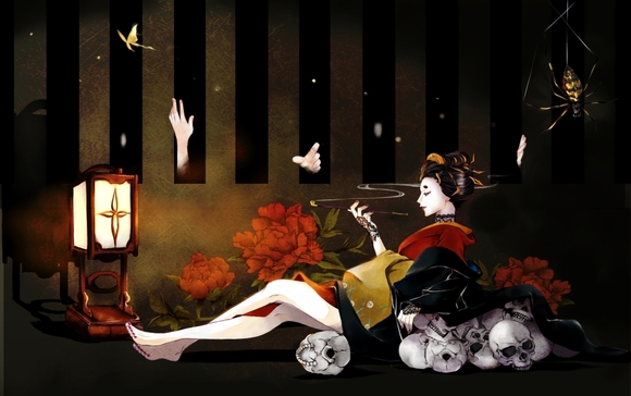 6月*牡丹と蝶。