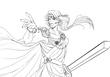 魔法剣士のアレー魔女っ子