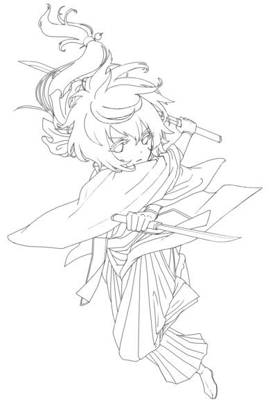 【線画×彩色◆コラボ祭Ⅳ】遠山桜 線画改良