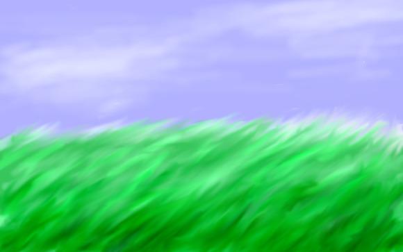 風が吹く草原
