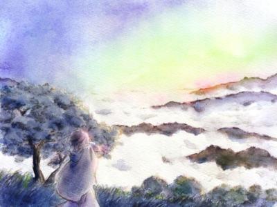 【線×色】汀雲さま線画