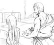 かぐや姫ラフ絵2(2話イラスト